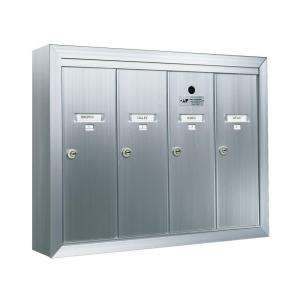 Florence 1250 Vertical Series Surface Mount 4 Compartment Mailbox