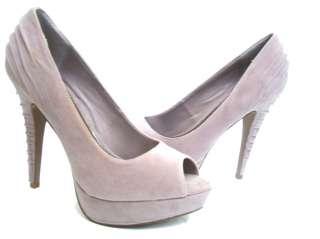 New Pink Suede Peep Toe Platform Dress High Heel Pumps