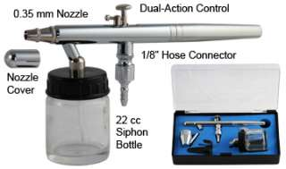 New Airbrush Kit Compressor Dual Action Siphon Feed Air Brush Gun Set