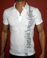 NEW AX ARMANI EXCHANGE MUSCLE SLIM FIT RUGBY POLO T SHIRT GRAPHIC