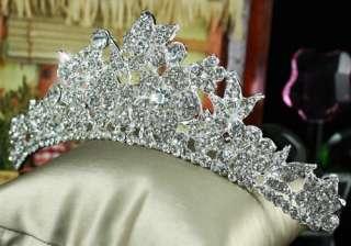 Bridal Wedding Crystal Sparkling Tiara Comb T1354