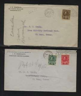 Canada war tax stamps on covers (2)