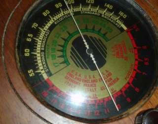 1936 Marshall Vintage Tube Radio Model 124