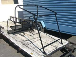 CLUB CAR DS GOLF CART ROLL CAGE REAR FLIP SEAT BED BLACK PAINT 4