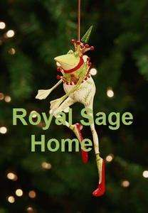 08 30566 Patience Brewster Dancing Frog Christmas Ornament