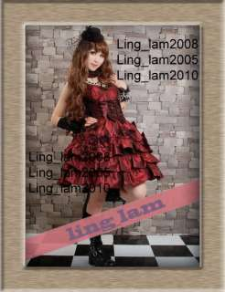 Dolly Gothic Punk Lolita Party Dress+necklace 61182 BR