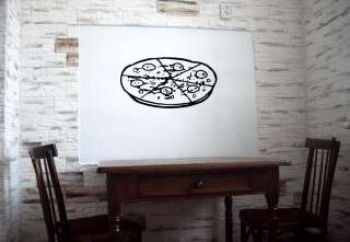 PIZZA ITALIAN RESTAURANT CAFE WALL VINYL STICKER DECALS ART MURAL O246
