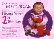 Custom Photo Birthday Invitation Design   1st, 2nd, ANY with Image