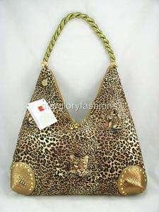Fabulous Brown Leopard Print Hobo Shopping Handbag