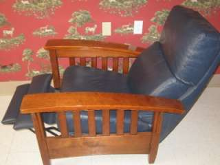 Ethan Allen Impressions Woodstock Mission Cherry Leather Reclining
