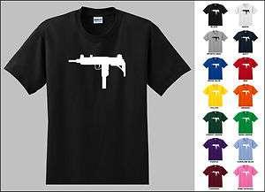 Uzi machine gun rifle t shirt