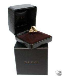 1890 BRAND NEW GUCCI MENS YELLOW GOLD RING 7