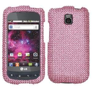 Pink Crystal Bling Case Phone Cover LG Thrive Prepaid