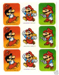 Vintage 1980s SUPER MARIO BROTHERS Sticker Sheet