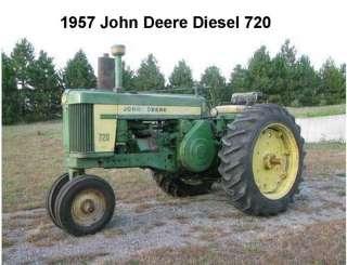 1957 John Deere Diesel 70 Tractor Refrigerator Magnet