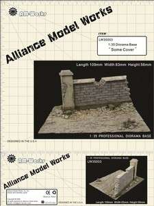Model Works 1:35 Small Resin Diorama Base Some Cover, LW35003