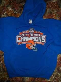 2008 FLORIDA GATORS National Champions mens sz M Blue HOODIE GILDAN