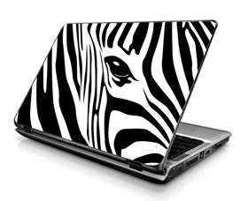 Laptop Skin Sticker Cover Zebra