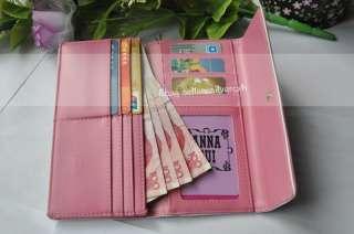 Womens Girls Elegance Wallet Clutch Purse PU Leather Long Style