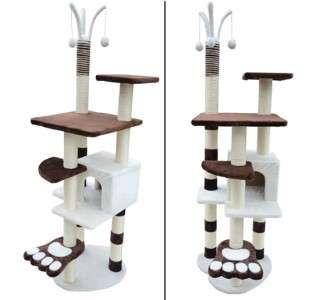 Pet Furniture Cat Tree Condo House Scratcher Bed Post Condo Tower Toy