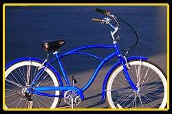 Marina Shimano 7 speed Classic Beach Cruiser Bike men