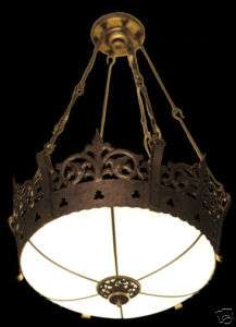 High Quality Gothic Hanging Light Fixture   4 Available