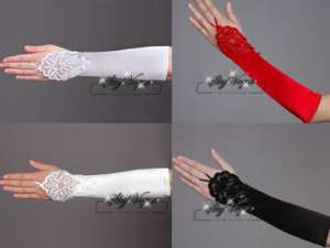 Wedding Bridal Fingerless Lace Embroidery Gloves,ST11