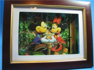 Disney Mickey Minnie Mouse Shadow Box 2D Ice Cream Shop