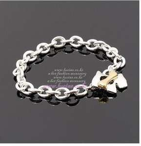 Cute Puppy Dog Gold Bone Silver Fashion Chain Bracelet