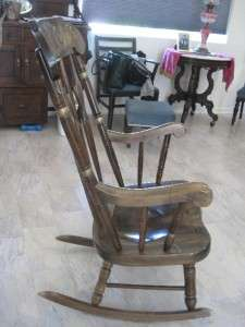 ... Antique Style Rocking Chair Rocker Distressed Pine Stenciled Decorated  ...