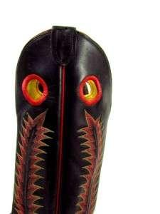 TONY LAMA BLACK LABEL 19 tall buckaroo cowboy western boots 9 D M