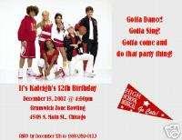 Set of 2 High School Musical Birthday Invitations
