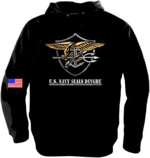 NEW UNITED STATES NAVY SEALS SWEATSHIRT HOODY(M 4X)
