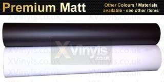 Matt Black White Self Adhesive Vinyl Sheet Art Sticker A5 A4 A3 A2 per