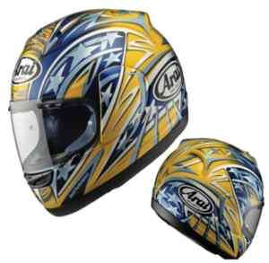 CASCO ARAI RX 7 CORSAIR EDWARDS GP YELLOW