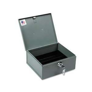 Buddy Products Heavy Duty Strong Box with Tray, Steel, 8.5 x 4.625 x