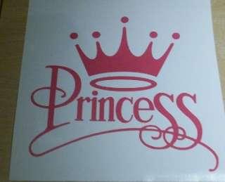 CROWN PRINCESS GIRLY FUN CAR WALL DECAL VINYL STICKER