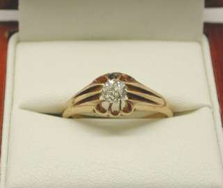 Lovely Edwardian 18ct Gold & Diamond Solitaire Ring