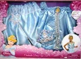 Disney Princess CINDERELLA Dress up Set ~ sizes 4   6X