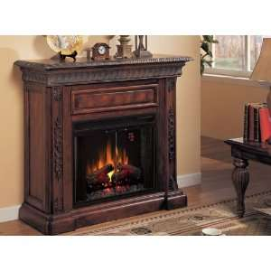 Electric Fireplace by Classic Flame in Antique Walnut   San Marco