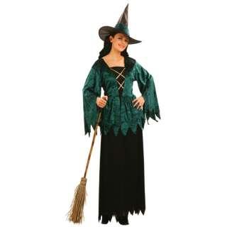 New Emerald Witch Ladies Fancy Dress Halloween Costume