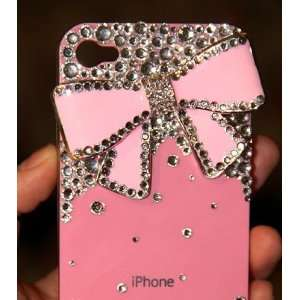 Bling Bling iPhone 4G/4S Crystal Diamond Bow Tie Pattern