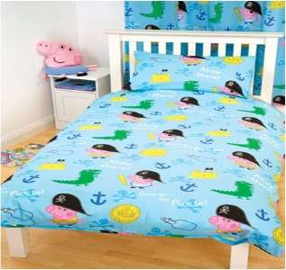 PEPPA PIG GEORGE LOGO DUVET SET QUILT COVER BEDDING SET