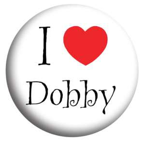 Love Dobby. Harry Potter, 25mm Button Badge