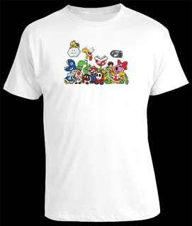Super Mario Bros Luigi Yoshi Gang Retro Gaming Tshirt