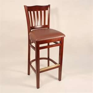 Factory Direct 7251H CHBR School House Four Bar Stool
