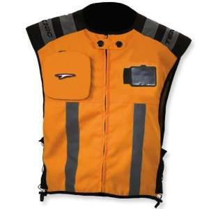 TEKNIC KICKER TEXTILE VEST DAY GLO ORANGE LG/XL