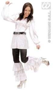 Pantalon Disco satin femme déguisement années 70 80 S