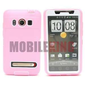 (MOBILE KING) Dual Ultra Rugged Protector Case ¡V Pink
