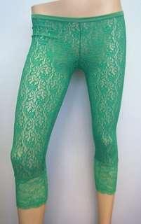 leggins/pantaloni PINKO verdi donna tg M in pizzo